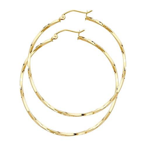 m Thickness Fancy Twisted Hoop Earrings (35 x 35 mm) ()
