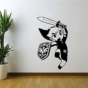 xinyouzhihi Cartoon Legend of Zelda Sticker Wall Room Decor ...