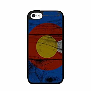 Dark Colorado Flag on Wood Plastic Fashion Phone Case Back Cover iPhone 5c Kimberly Kurzendoerfer