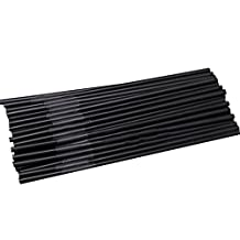 Dimart Flexible Pack Of 100 Disposible Drinking Straws(Black)