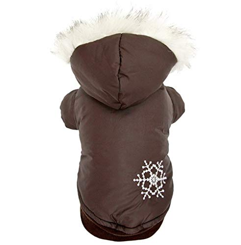 RSHSJCZZY Puppy Winter Removable Hoodies Dog Clothes Snowflake Reversible Coats -