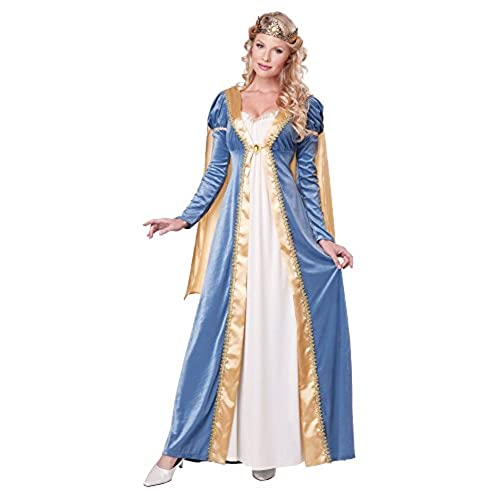 Medieval dresses amazon california costumes womens elegant empress renaissance lady gown blue small solutioingenieria Choice Image
