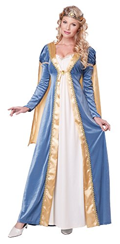 Medieval Queen Dress (California Costumes Women's Elegant Empress Renaissance Lady Gown, Blue, Medium)