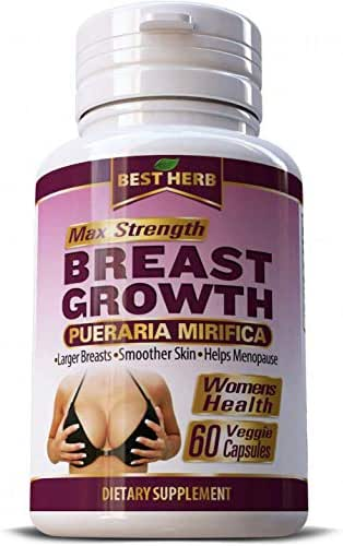 Max Strength Pueraria Mirifica Breast Growth Bust Enlargement 5000 mg Firm Body