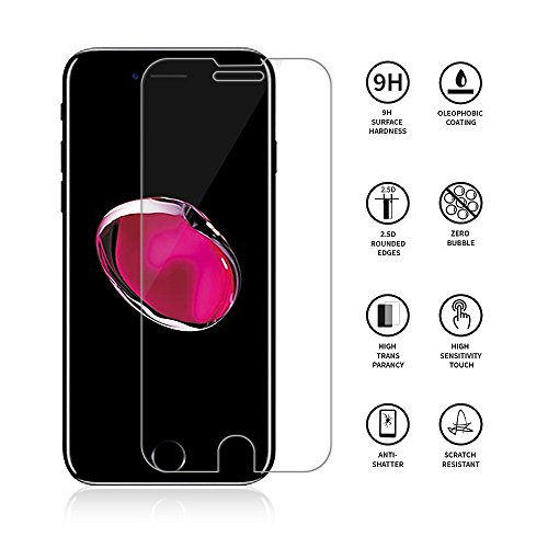 iPhone 7 plus Smarttech Screen Protector Glass, Smarttech iPhone 7 Tempered Glass Screen Protector for Apple iPhone 7 plus 2016 (3-Pack) …