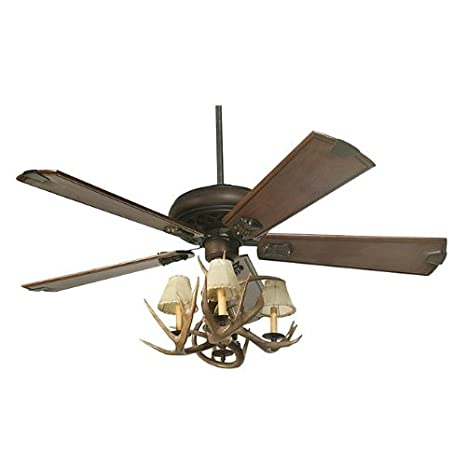 Coues deer antler ceiling fan with 4 lights amazon coues deer antler ceiling fan with 4 lights aloadofball Choice Image