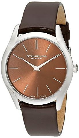 Stuhrling Original Men's 434.3315K59 Classic Ascot Swiss Quartz Ultra Slim Watch (Swiss Mens Classic)