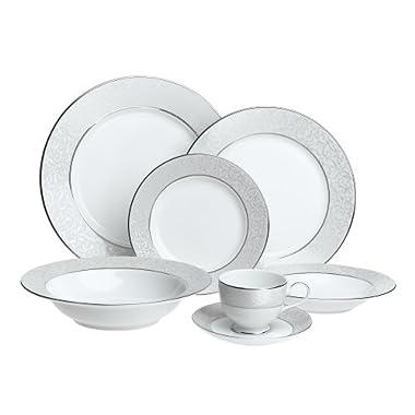 Mikasa Parchment Fine China 42-Piece Dinnerware Set, Service For 8