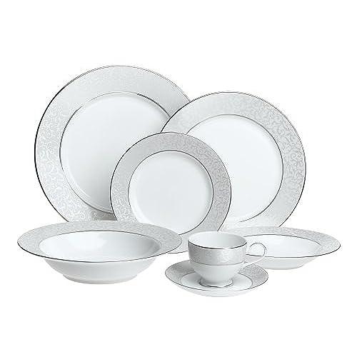 Mikasa Parchment Fine China 42-Piece Dinnerware Set Service For 8  sc 1 st  Amazon.com & Fine China Sets: Amazon.com