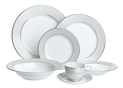 - Mikasa Parchment Fine China 42-Piece Dinnerware Set, Service For 8