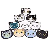 10 Pcs Cartoon Cat with Different Expressions Badges Acrylic Brooch Pin for Girls Kids Clothes Bags Backpacks Hat Jacket Decoration Gift