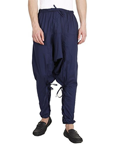 Mens Yoga Lightweight Cotton Dance Handmade Harem Pants - Samurai Style