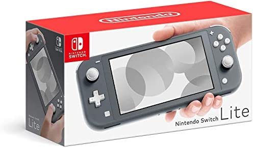 Newest Nintendo Switch Lite Game Console, 5.5 inch LCD Touchscreen, Built-in Plus Control Pad, Speakers, 3.5mm Audio Jack, Speakers, with CUE 128GB Micro SD Card (Gray)