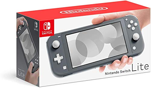 Newest Nintendo Switch Lite 5.5 inch LCD Touchscreen Game Console | 802.11ac WiFi | Bluetooth 4.1 | 3.5mm Audio Jack | Speakers | Gray | With Woov 32GB MicroSD Card Bundle