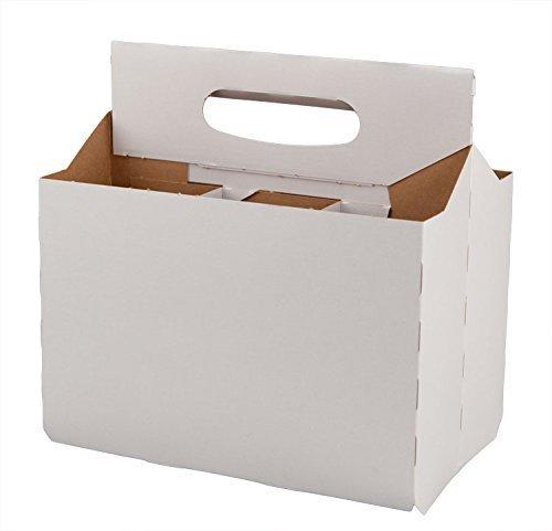 Six Pack Bottle Cardboard Carrier Boxes for 12oz Glass Beer or Soda Bottles (Pack of ()