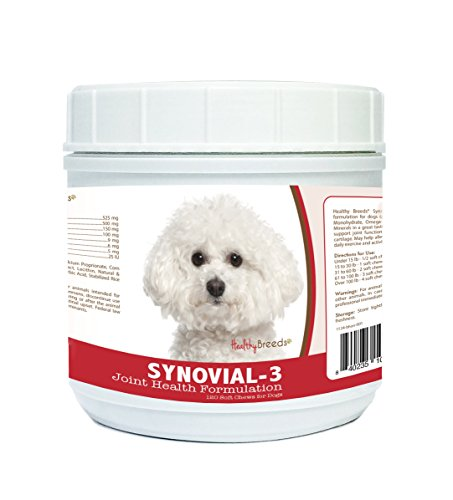 - Healthy Breeds Synovial-3 Dog Hip & Joint Support Soft Chews for Bichon Frise - OVER 200 BREEDS - Glucosamine MSM Omega & Vitamins Supplement - Cartilage Care - 120 Ct