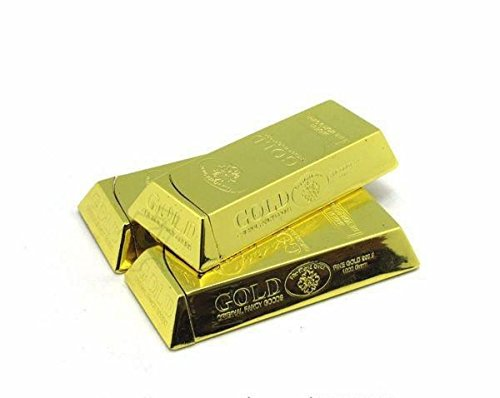 Yeahgoshopping Gold Bar Chocolate Shaped Bullion Butane Gas Lighter - One Lighter Maybe Vary From Picture