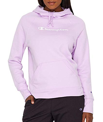 Champion Women's Fleece Pullover Hoodie, Pale Violet Rose Small