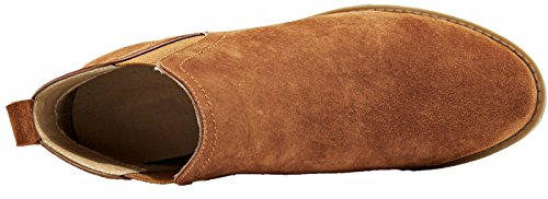 Booties Style Fall Brown Boots Comfortable Chelsea Leather Classic Womens Winter Ankle Women U New Suede lite qax1TqwR