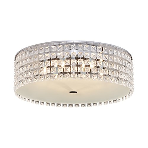 (Bazz PL3416ON Decorative Ceiling Fixture, Dimmable, Easy Installation, Bulbs Included, 16