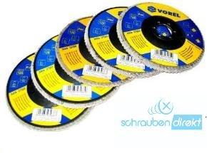 5x Fächerschleifscheibe, Schleifmopteller, Lamellenschleifscheiben Ø 125 mm Körnung 80 unbekannt