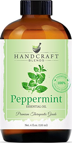 Handcraft Peppermint Essential Oil - 100 Percent Pure and Natural Premium Therapeutic Grade with Premium Glass Dropper - Huge 4 oz