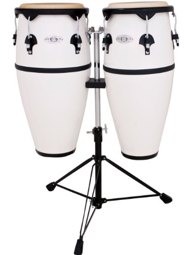 Toca 2300FWH Synergy Series Fiberglass Conga Set with Stand - White