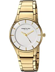 Kenneth Cole New York Womens Quartz Stainless Steel Casual Watch, Color:Gold-Toned (Model: KC15201003)