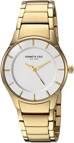 Kenneth Cole New York Women's Quartz Stainless Steel Casual Watch, Color:Gold-Toned (Model: KC15201003)