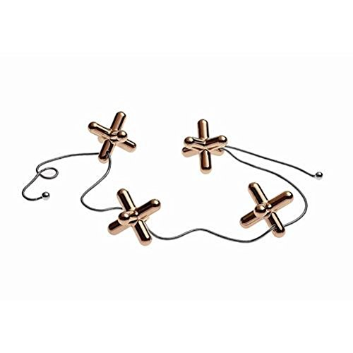 Alessi Tripod Trivet with Adjustable Elements, Golden Pink by LPWK by Alessi