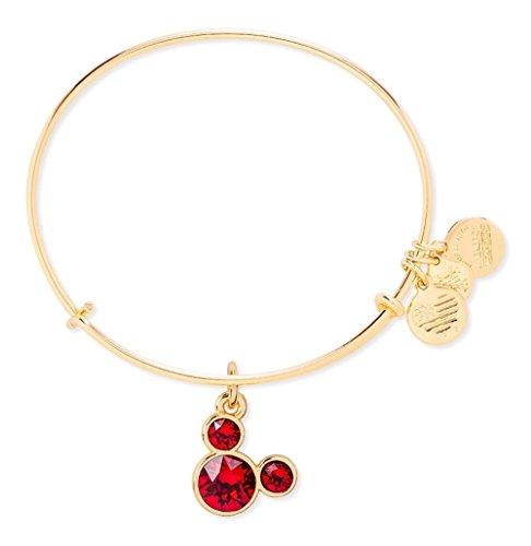 - January Birthstone Mickey Mouse Icon Disney Alex and Ani Bangle Bracelet (Gold)