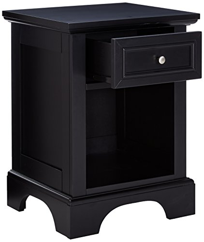 home, kitchen, furniture, bedroom furniture,  nightstands 8 on sale Home Styles Bedford Black Hardwood Nightstand with Storage deals