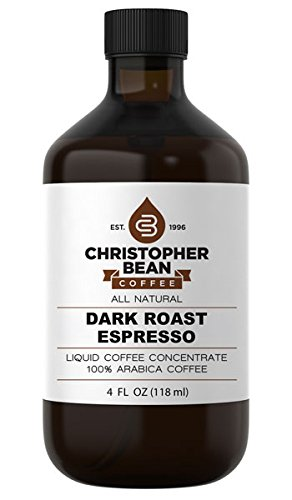 Dark Roast Espresso Cold Brew Or Hot Liquid Coffee Concentrate 4 Ounce Bottle by Christopher Bean Coffee (Image #1)
