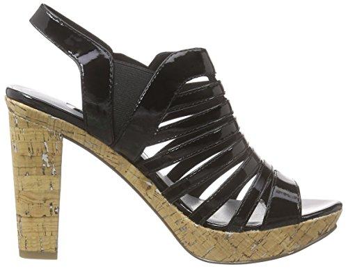 Tamaris 28335 - Sandalias con plataforma Mujer Negro - Schwarz (BLACK PATENT 018)