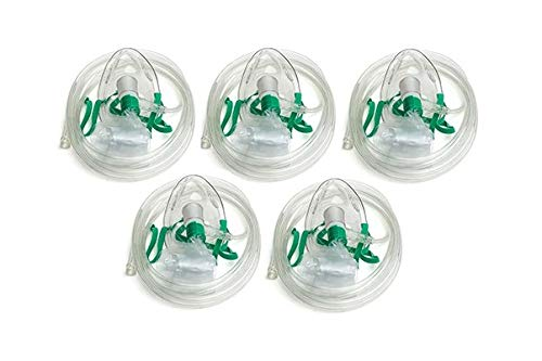 Dealmed Non-Rebreather Oxygen Mask, Adult, 5 Count