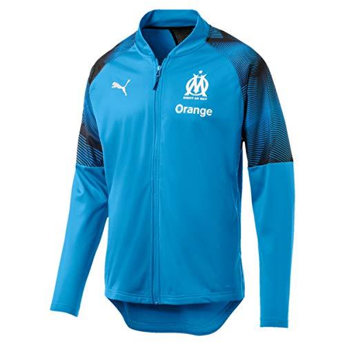 Bleu Sponsor Olympique Logo Survêtement De Puma Veste Homme With Marseille Zip Azur XqvaRa4wx