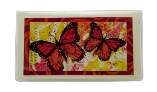Monarch Butterfly Checkbook Cover Debit Receipt Holder Made in the USA