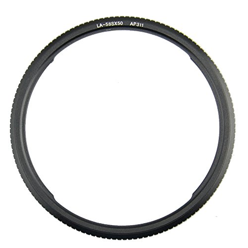 Kiwifotos 58mm Aluminum Lens Filter Adapter Ring for Canon PowerShot SX70 HS,SX60 HS,SX50 HS,SX530 HS,SX540 HS,SX520 HS Digital Camera