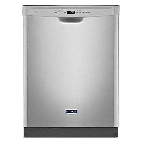 """24"""" 50 dBA Control Dishwasher with 4-Blade Finish: Monochromatic Stainless Steel"""