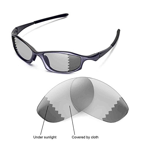 Walleva Replacement Lenses for Oakley Hatchet Wire Sunglasses - Multiple Options Available (Transition/photochromic - Polarized) (Hatchet Wire)