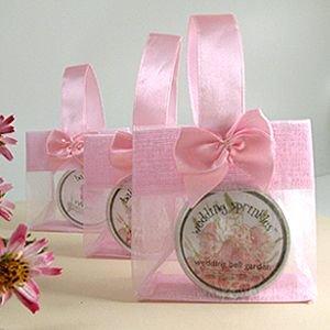 mini sheer organza tote girly chic pink wedding bridal shower favor gift bag 325 x