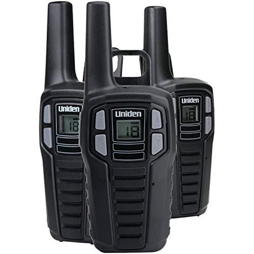 (Uniden SX237-2C Up to 23-Mile Range FRS Two-Way Radio Walkie Talkies, Rechargeable Batteries with Convenient Charging Cable, 22 Channels, 121 Privacy Codes, NOAA Weather Channels + Alert, Black)
