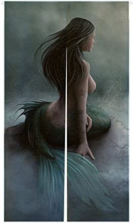Custom Mermaid and the Sailing Ship Japanese Noren Doorway Curtain Door and Window Curtain Tapestry Size 85x150cm