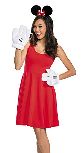 Womens Halloween Costume- Minnie Mouse Ears & Gloves Adult Costume