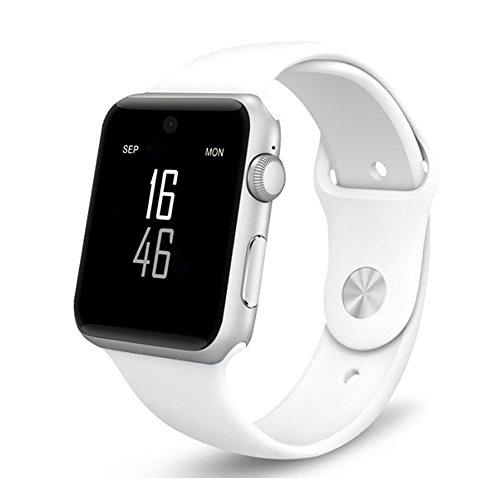 Smart Watch Bluetooth smartwatch with Camera Music Player for IOS iPhone Android Samsung HTC Sony LG Huawei Smartphones (White-DM09) by PLYSIN