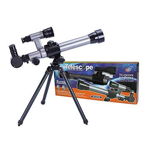 FUNRUI Kids Telescopes, 20X-30X-40X Adustable Childrens Science Astronomical Telescope for Kids Beginners Astronomy Stargazing, with Tripod Eyepieces Compass Star Finder Lens Toy Set