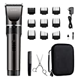 WONER Cordless Rechargeable Hair Clippers, Hair Trimmers for Men, 16-piece Home Hair Cutting Kit with Scissors Case