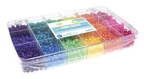 Sulyn Clubhouse Crafts Pony Beads, Assorted Colors, Set of 2300 ()