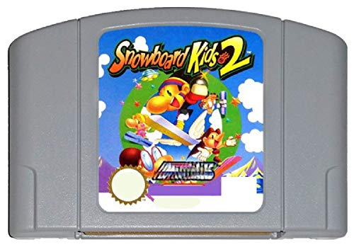 ASMGroup Nintendo N64 Video Gamess Game Cartridge - Snowboard Kid 2 English Language for 64 bit USA Version Video Game Cartridge Console