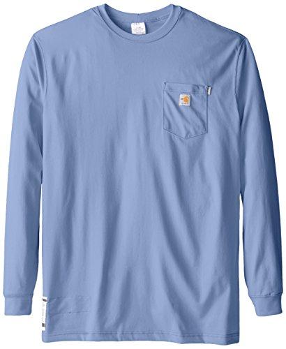 Carhartt Men's Big & Tall Flame Resistant Force Cotton Long Sleeve T-Shirt,Medium Blue,XXX-Large Tall from Carhartt